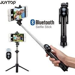 JOYTOP plegable Selfie Stick Bluetooth Selfie Stick + trípode + Bluetooth obturador remoto trípode para iPhone Android Selfie Sticks