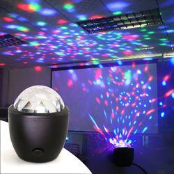 Tanbaby Mini stage light 3 Вт USB powered Sound Активированный многоцветный диско-шар магический эффект лампа для дня рождения, вечерние, концерта и т. д.