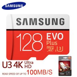Samsung EVO Plus Micro SD Card 64 ГБ 32 ГБ 16 ГБ 256 ГБ Class10 microsdsdxc UHS-I 80 МБ/с. SDHC карты памяти 64 ГБ 128 ГБ + адаптер SD 256 г