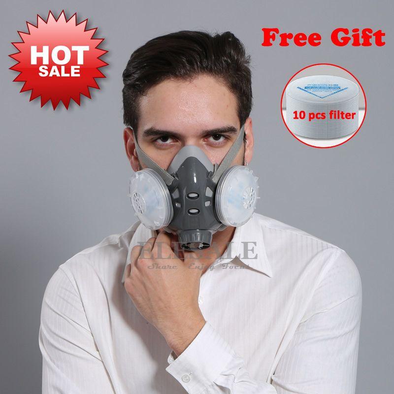 Высокое качество Половина Уход за кожей лица пыль маска респиратор для Builder плотник ежедневно защиты дымка рабочая обувь маска 5 Слои Fliter