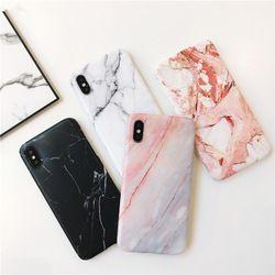Para iPhone x caso simple caso de mármol TPU para iPhone 8 8 más Scrub TPU para iPhone 6 6plus 7 7 más shell de protección