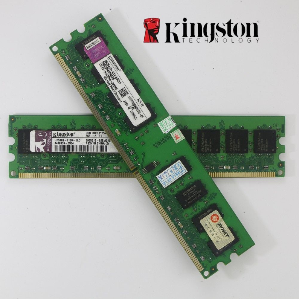 Used Kingston Desktop RAM DDR2 4GB 2GB 2g 4g PC2-6400 800MHz 667Mhz 2 pieces PC DIMM Memory RAM 240 pins For AMD for <font><b>intel</b></font> 2g 4g