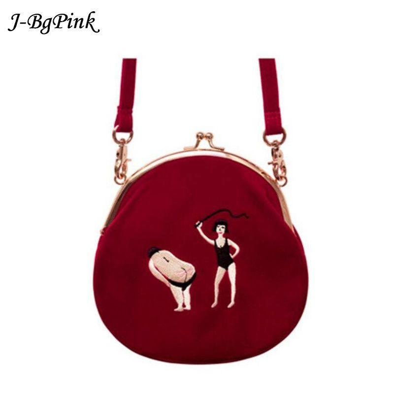 Sac velours femme Vintage sac velours broderie femme Messenger sacs en demi-cercle forme ronde Original conçu