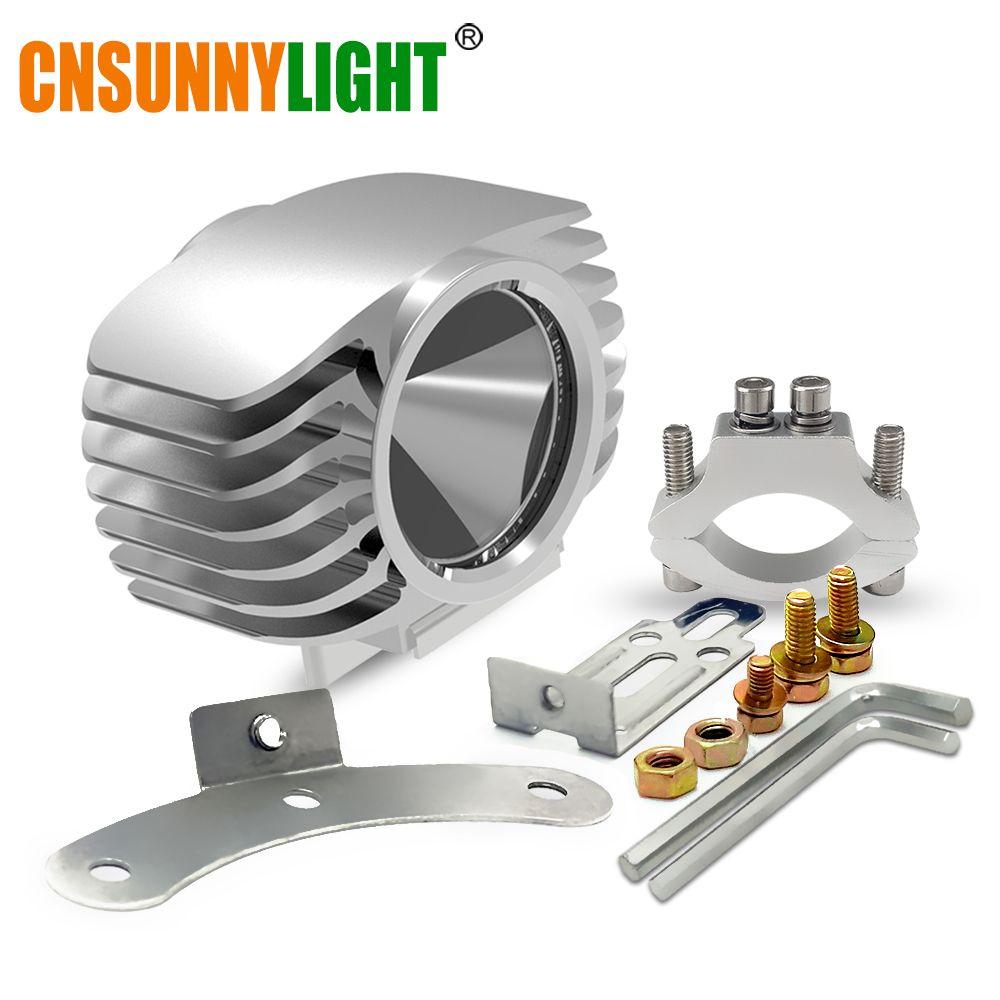 CNSUNNYLIGHT Motorbike LED Headlight 15W 2250Lm Car Plus Fog DRL Light for Scooter/E-bike/Truck/ATV/UTV/SUV/Motorcycle Headlamp