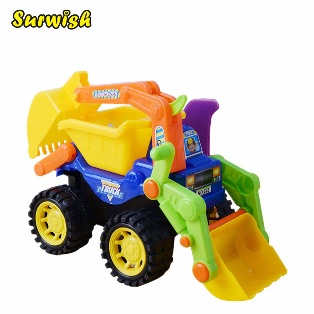 Surwish Kids Children Simulation Engineering Vehicles Excavator Inertia Car Boys Toy Real Dump Truck