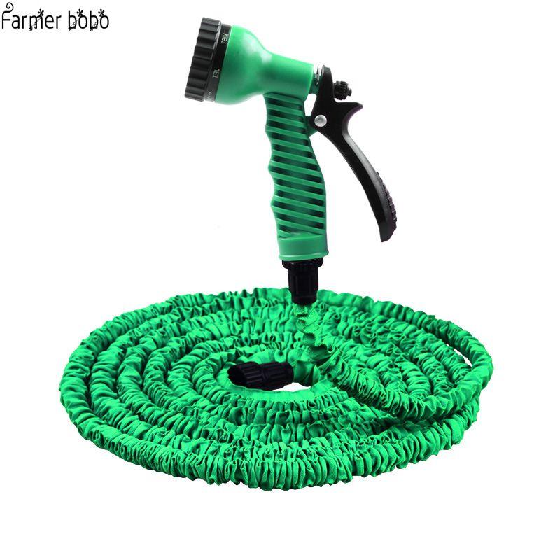 Vente chaude 25FT-100FT tuyau d'arrosage extensible magique Flexible tuyau d'eau EU tuyau tuyaux en plastique tuyau avec pistolet à arrosage