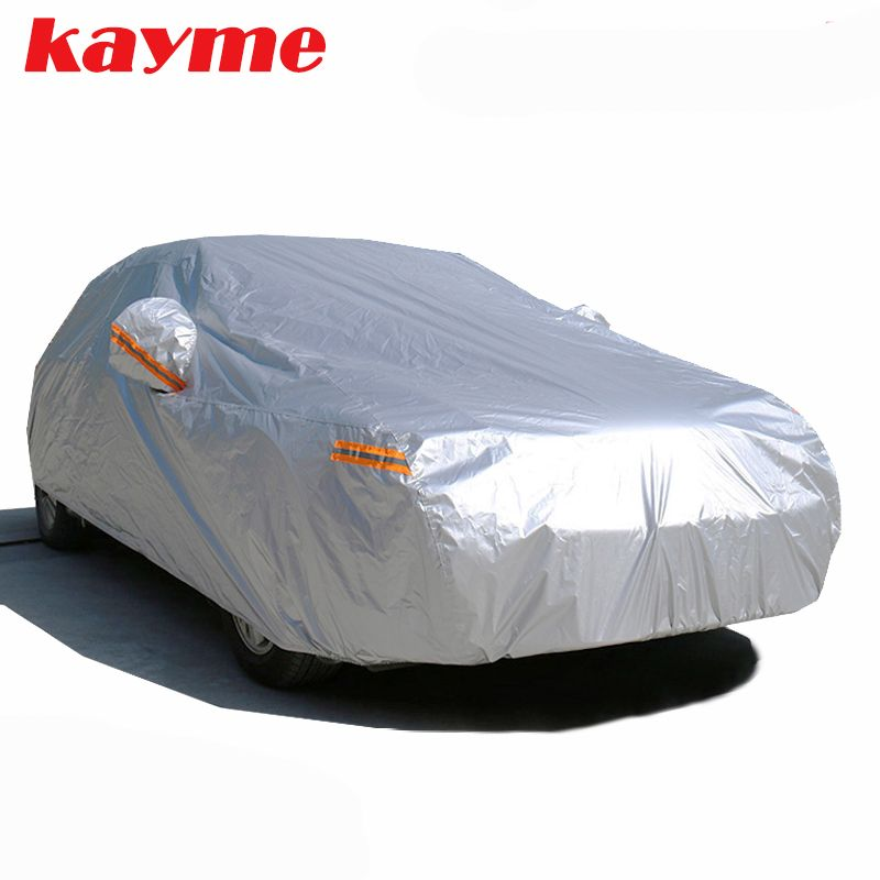 Kayme waterproof car covers outdoor sun protection cover for car reflector dust <font><b>rain</b></font> snow protective suv sedan hatchback full s