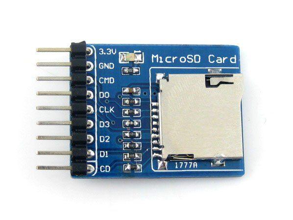 Micro SD Carte de Stockage Mémoire Micro SD Module Conseil de Développement Soutient SDIO Interfaces SPI Livraison Gratuite