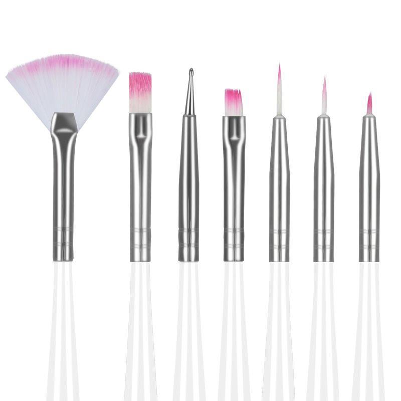 7 Pcs White Nail Art Design Painting Pen Polish Brush Dotting Set Hot Sale High Quality Brushes 131-0013