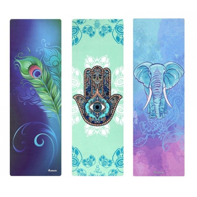 178*61*cm*3.5MM Suede Natural Rubber Non-slip Yoga Mat Thick Anti Slip Printed Pilates Exercise Mat Sport Mats Dance Fitness Pad
