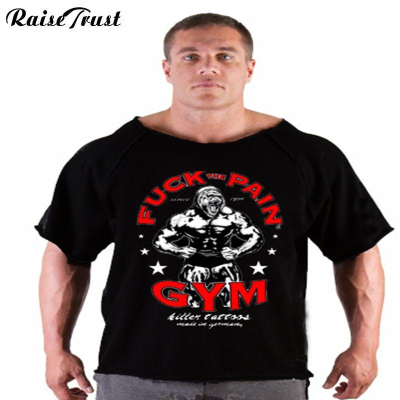 Nouveau été musculation et hommes courts haute qualité muscle maillot de corps grande taille vêtements fitness musculation T-Shirts