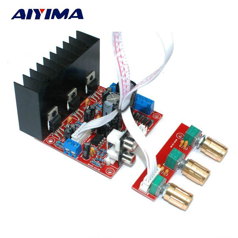 Aiyima TDA2030A 2.1 Subwoofer Amplificateur à Trois canaux Audio Haut-Parleur Ampli Basse Conseil