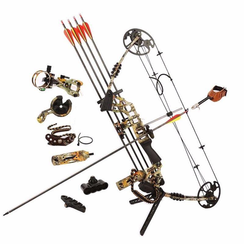 M120 sueño Caza arco compuesto mano derecha exterior Pesca arcos flechas potente Tiro Jun XING