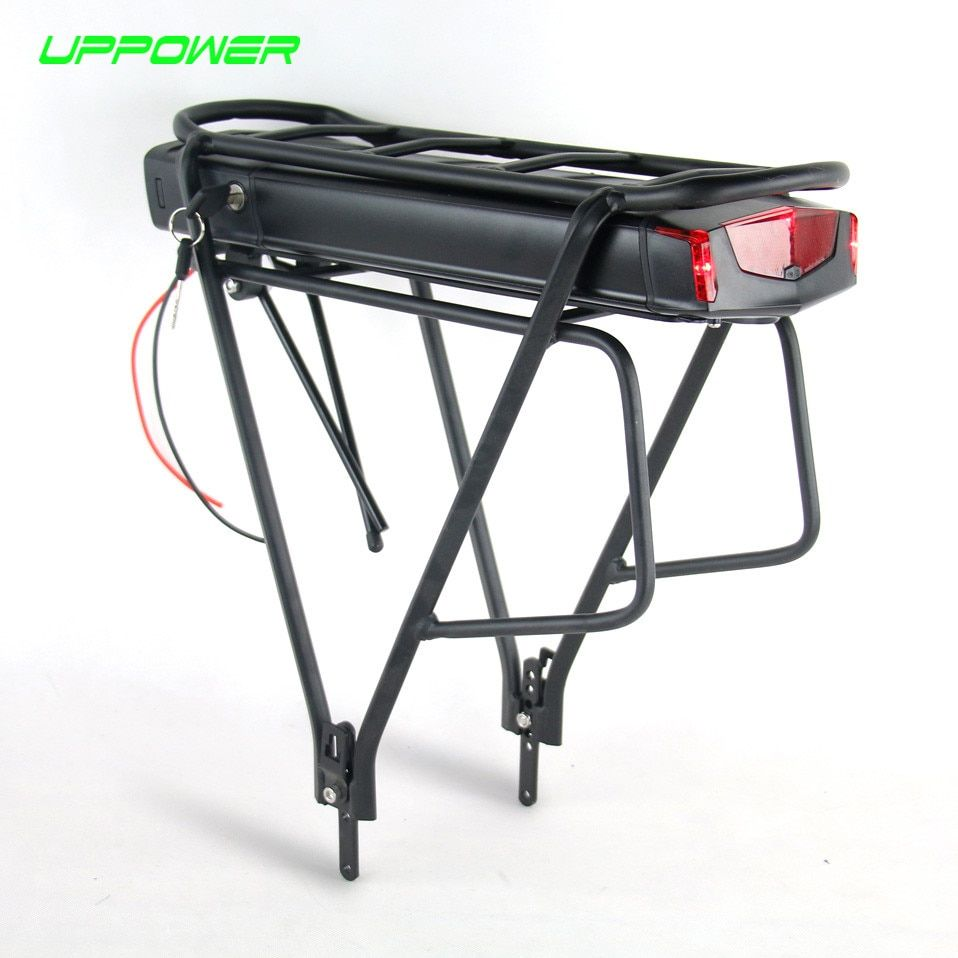 Electric Bicycle 36V 10Ah 13Ah Rear Rack Battery for Bafang BBS01 BBS02 eBike Battery + Double Layer Luggage Rack