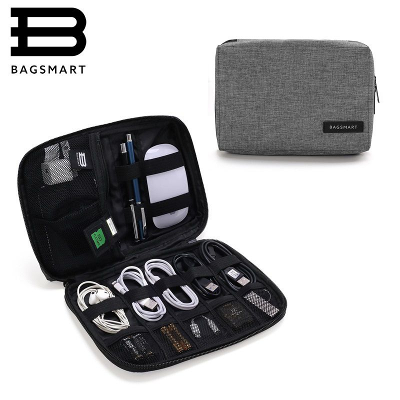 BAGSMART Waterproof Travel Wire Bag Electronic Accessories Bag For iPhone Earphone Data Cable SD Card USB