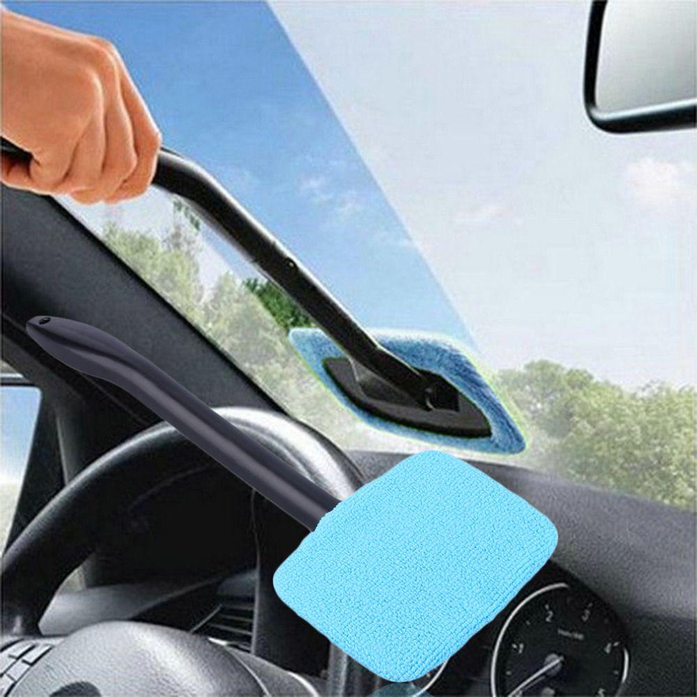 Heißer Auto Washer Pinsel Microfiber Fensterreiniger Langen Griff Staub Autopflege Windschutzscheibe Glanz Handtuch Handliche Waschbar Auto Reinigungswerkzeug