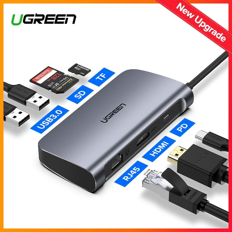 Ugreen USB HUB C HUB to Multi USB 3.0 HDMI Adapter Dock for MacBook Pro Accessories USB-C Type C 3.1 Splitter 3 Port USB C HUB