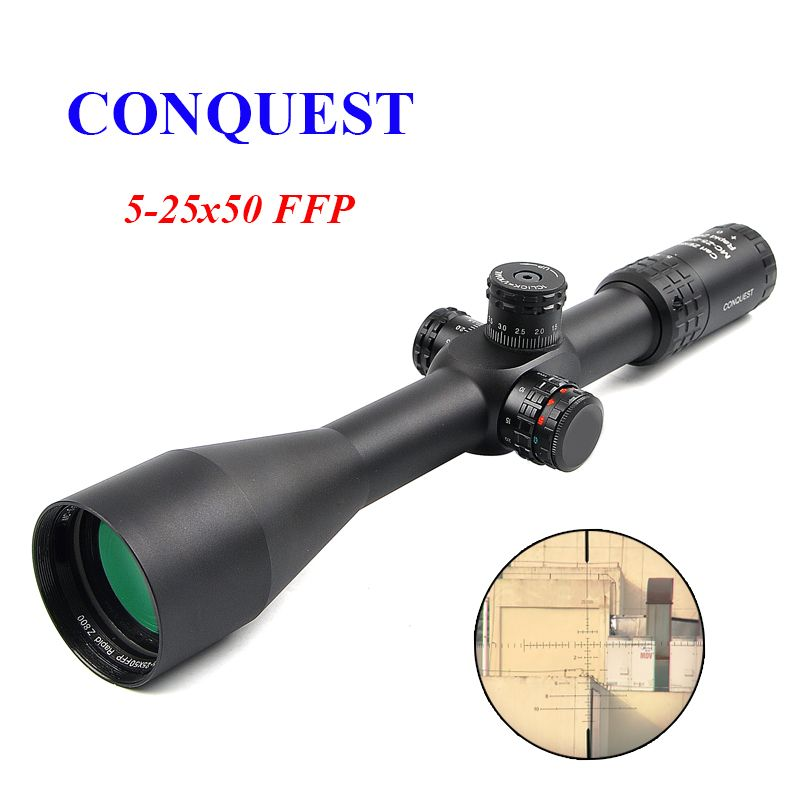 Conquest 5-25x50 Z800 FFP Rifle Scope Side Parallax Tactical Optics Scope Sniper Scope Hunting Scopes Hunting Rifle