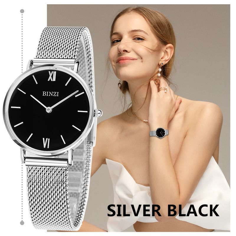 BINZI Women Watches Luxury Brand Quartz Watch Women Gold Silver Bracelet Watch Ladies Fashion Wristwatch Clock Relogio Feminino