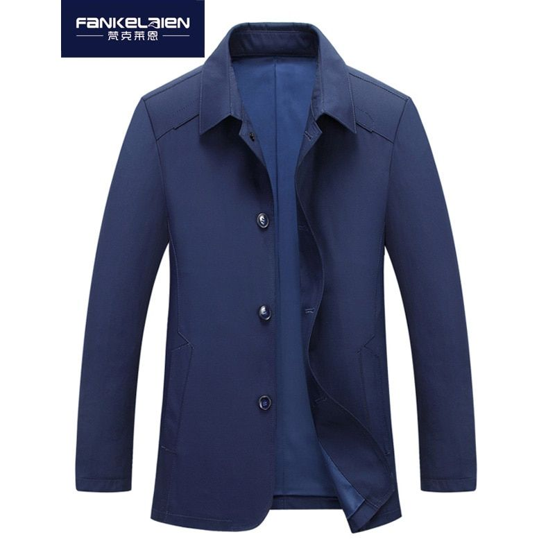 2018 New Spring And Autumn Jacket Men's Jacket In The Long Trench Coat Thin Jacket Men's Fashion Casual Jacket