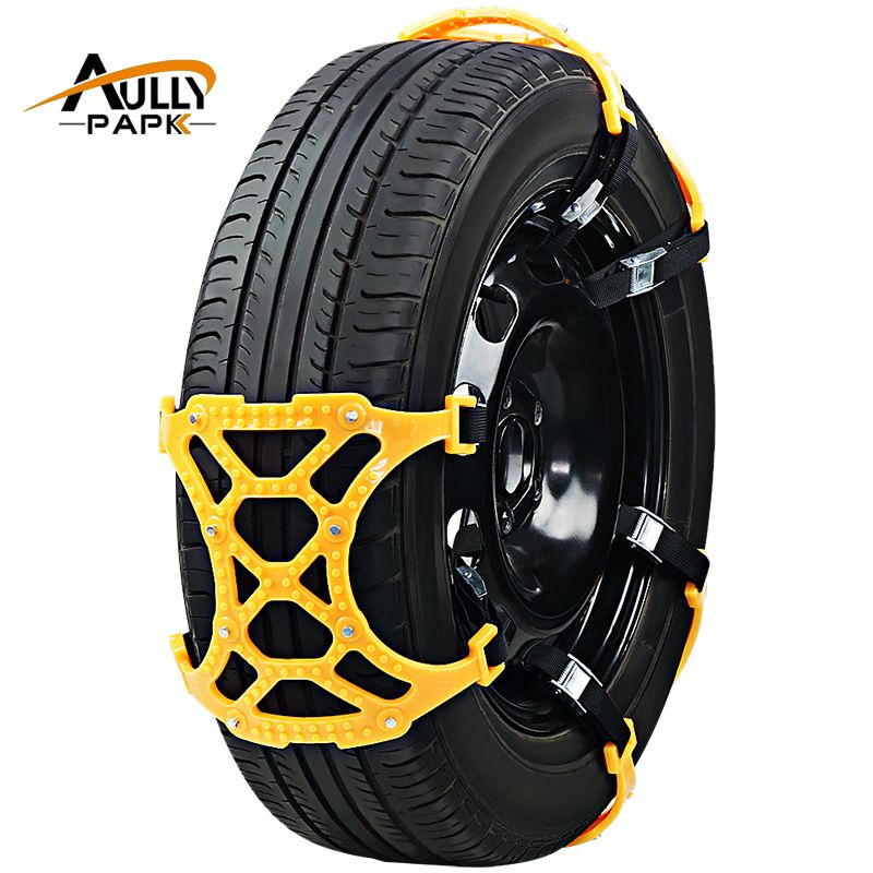 6Pcs/Set TPU Snow Chains Universal Car Suit 175-275mm Tyre Winter Roadway Safety Tire Chains Snow Climbing Mud Ground Anti Slip
