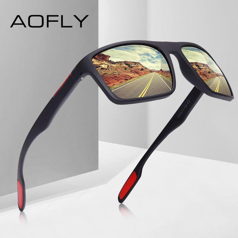 AOFLY DESIGN ultraléger TR90 lunettes De soleil polarisées hommes pilote nuances mâle Vintage lunettes De soleil pour hommes Spuare lunettes Gafas De Sol