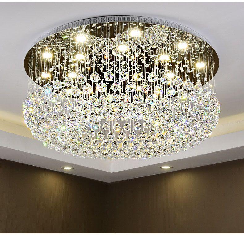 Circular Kristall Decke Licht Für Wohnzimmer Startseite Dining Licht Lampe Hotel Kreative Retro Eisen Lampe E14 led-lampe