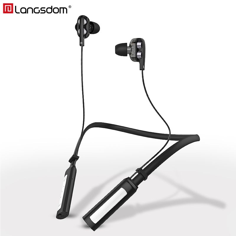 Langsdom LD4 Sports Wireless Earphone CSR 4.2 Bluetooth Headphone with Mic IPX5 Wireless <font><b>Headset</b></font> Stereo Earbuds for phone xiaomi