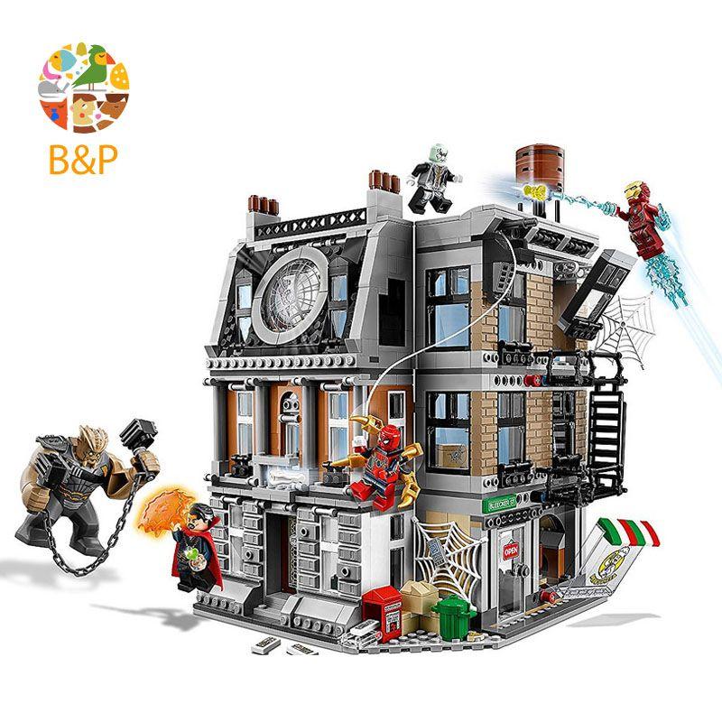 Legoing 76108 1044pcs Super Heroes series The Sanctum Sanctorum Showdown Building Blocks Toys For Children Gift 10840