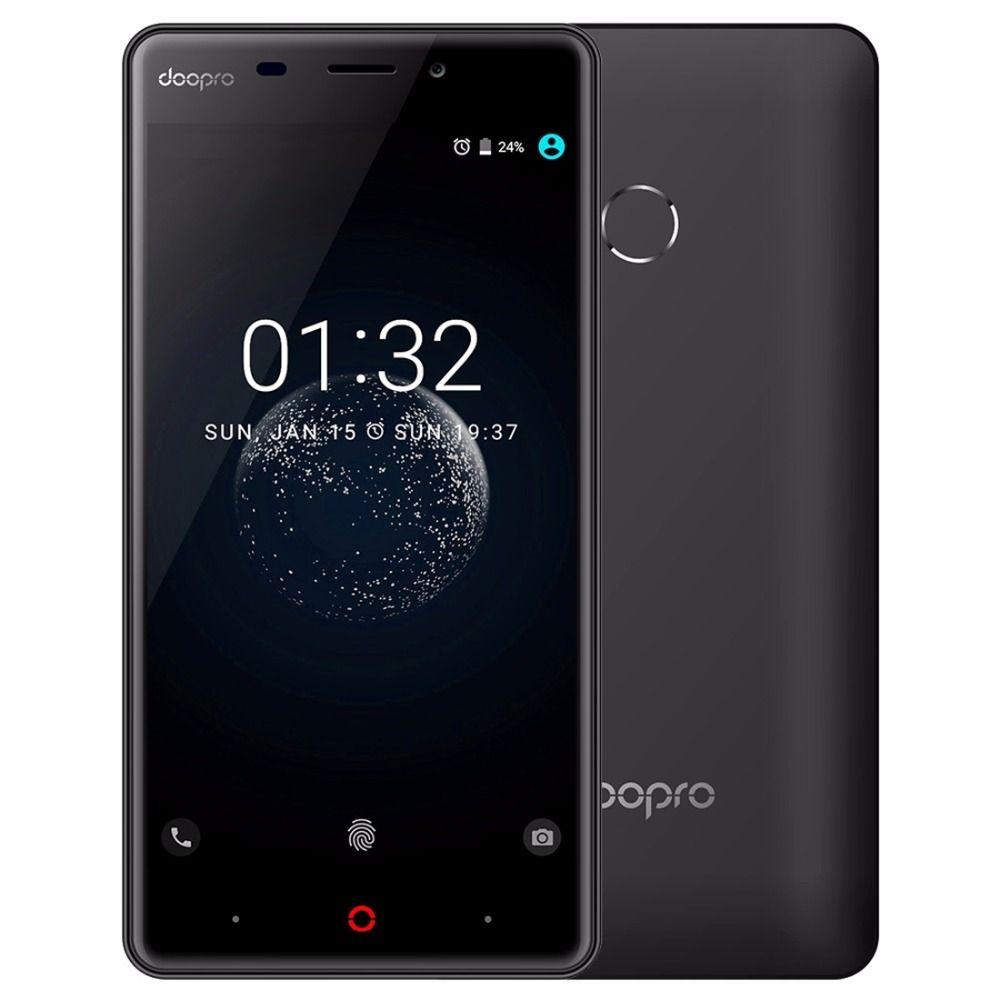 Doopro P1 Pro 4200 mAh Batterie D'empreintes Digitales 5MP MSM8909 Quad Core Android 6.0 Mobile Téléphone 2 GB RAM 16 GB ROM Unlock 4G Smartphone