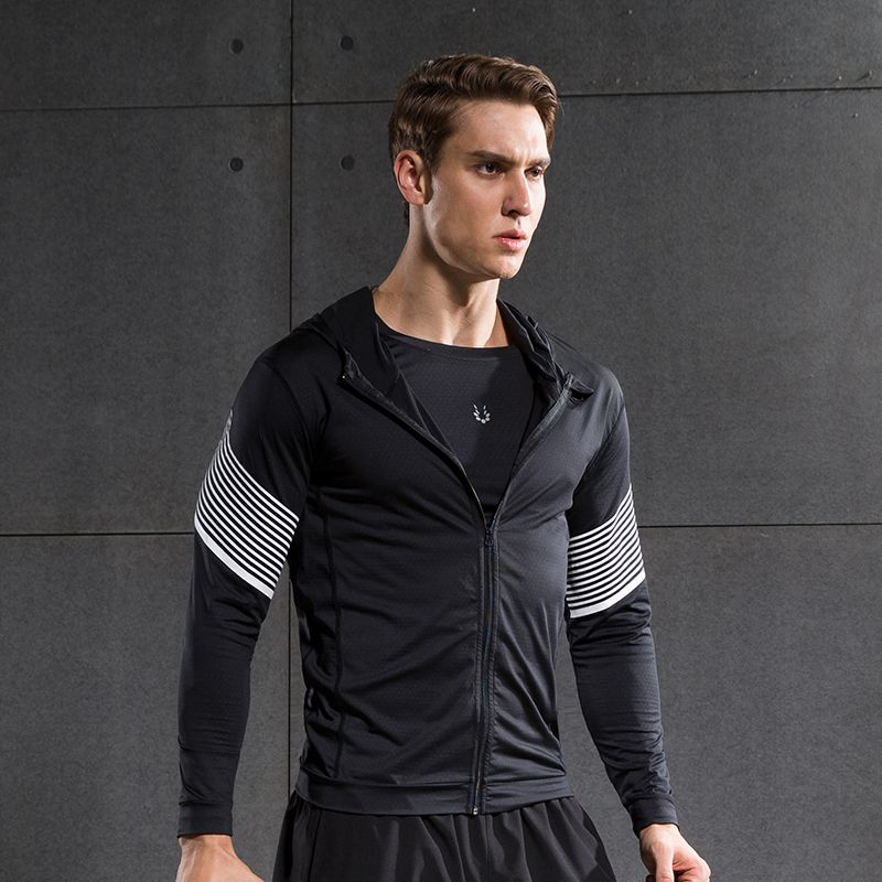 Men Running Run Jacket Sweaters Fitness Exercise Outdoor Fitting Sports Soccer Football Training Gym Jogging Jogger Jackets