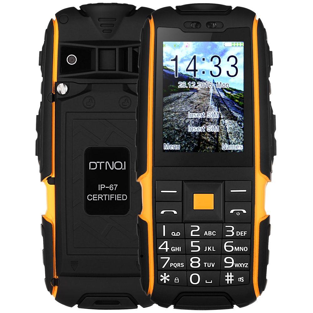 DTNO.I A9 Quad Band Unlocked Phone 4800mAh Battery 2.4 Inch IP67 Waterproof Dustproof Shockproof 32MB FM Flashlight Cellphones