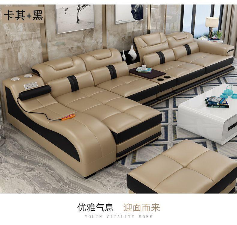 Wohnzimmer Sofa set ecke sofa massage reale echtes kuh leder schnitts sofas minimalistischen muebles de sala moveis para casa