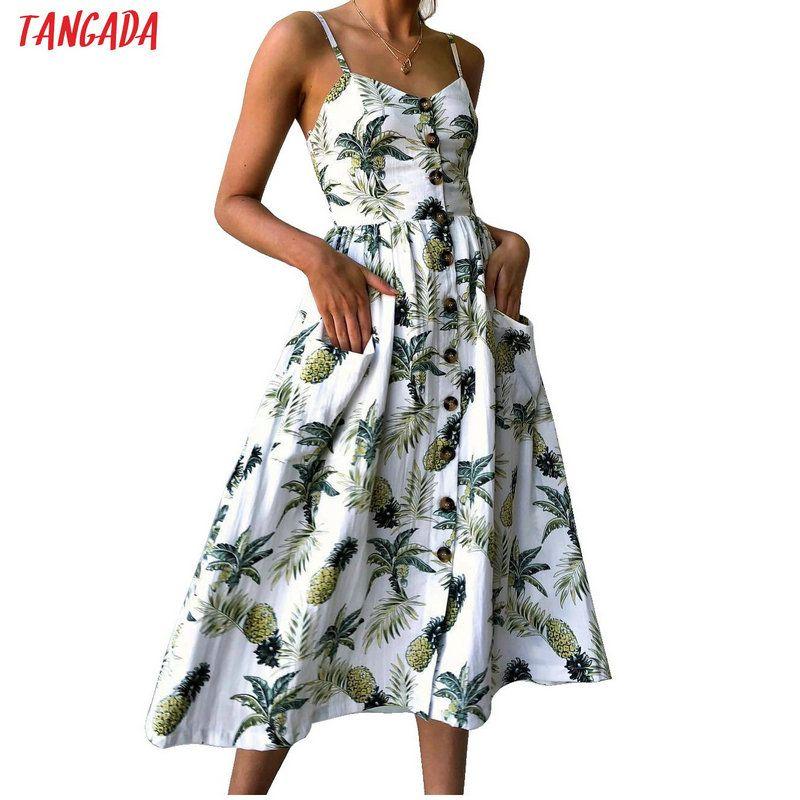 Été femmes robe 2019 Vintage Sexy bohème Floral tunique robe de plage robe d'été poche rouge blanc robe rayée femme marque Ali9