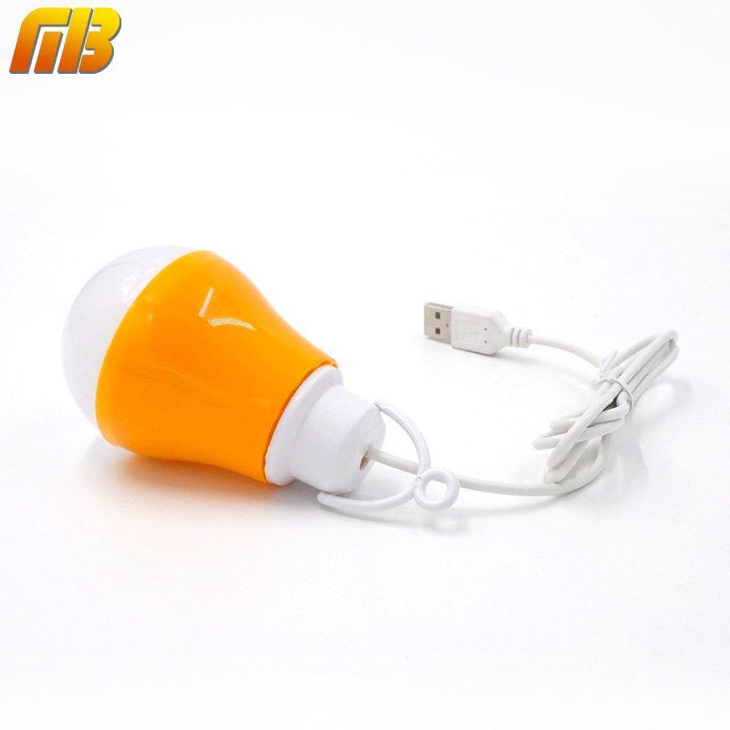 [MingBen] USB Led-lampe Led-leseleuchte Tragbare Nachtlicht 5 V DC 5 Watt Arbeit Mit Energienbank Notebook Camping Außenleuchte LED lampe