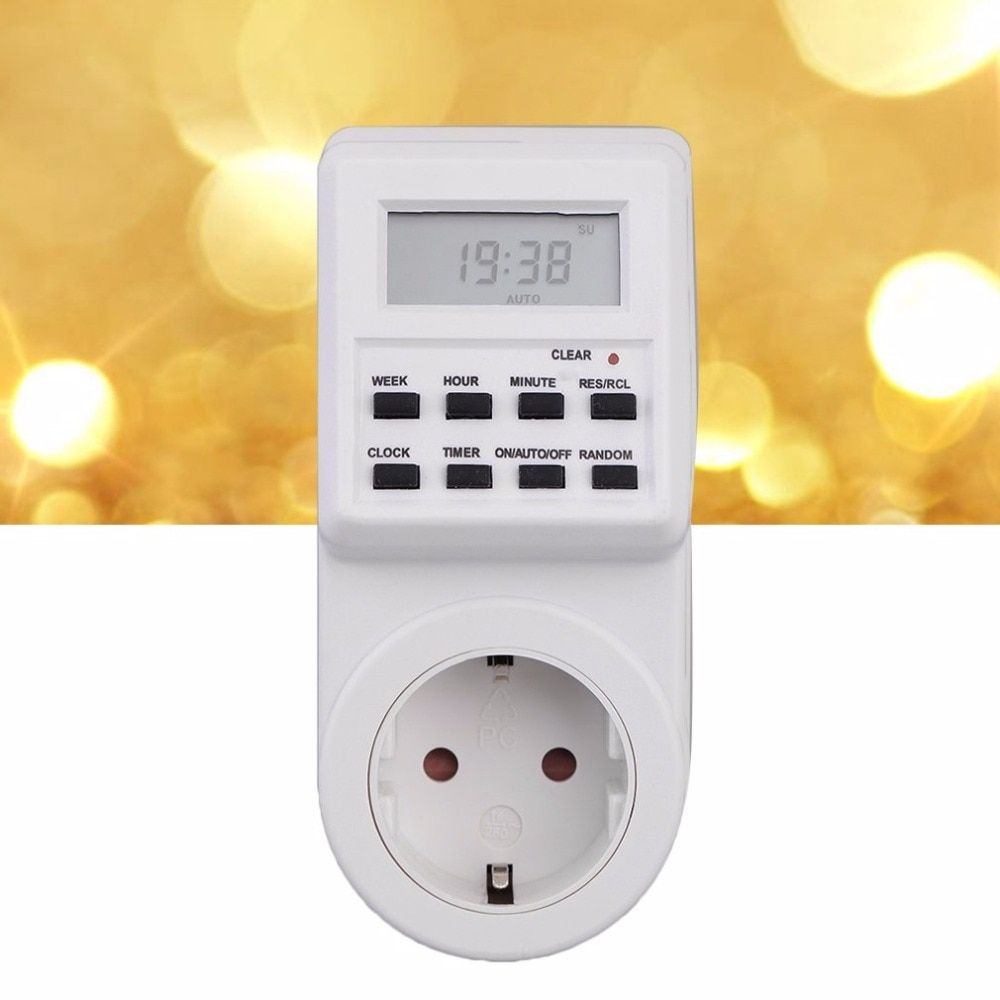 2017 New Arrival Timer Switch Socket with Clock Summer Time Random Function Eu Plug for cooking food Drop Shipping