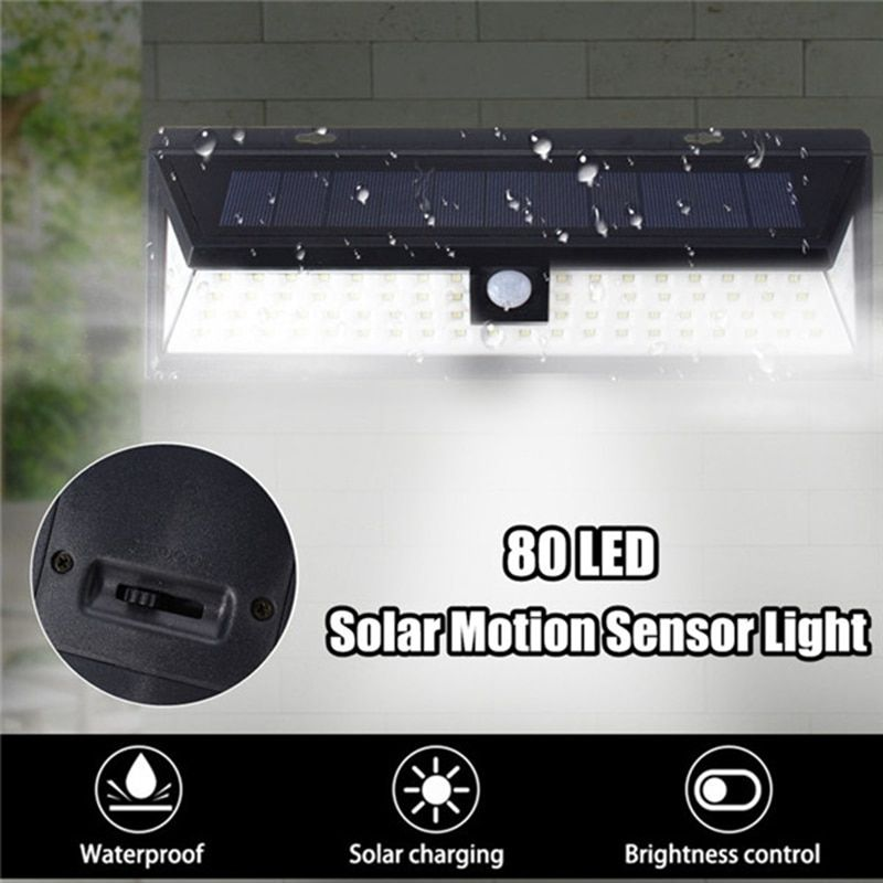 Waterproof LED Solar Light Solar Powered PIR Motion Sensor Light Outdoor LED Garden Light Security Night Pathway Wall Light