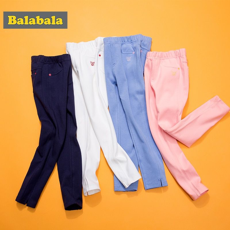 balabala Girls Leggings cotton elastic enfant pants Menina Toddler Classic Leggings for Girl Pencil Pants Kids Trousers bottoms