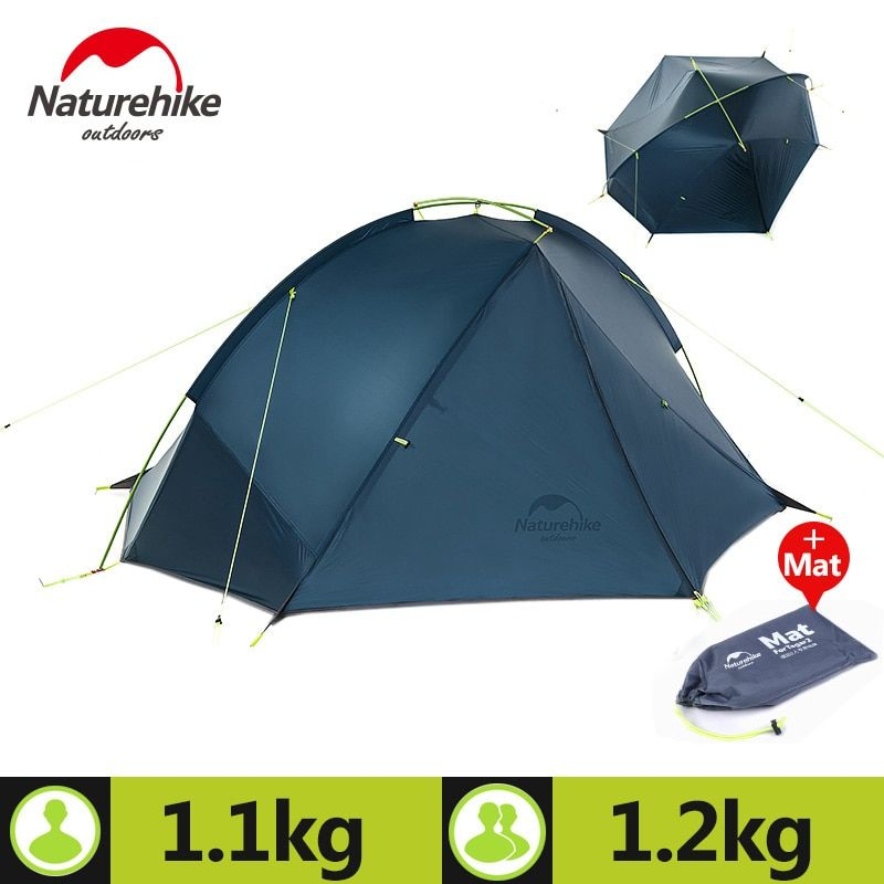 Naturehike Outdoor Portable Camping Tent For 1-2 Person 3 Season 20D Silicone Fabric Double Layer Rainproof Lightweight Tent