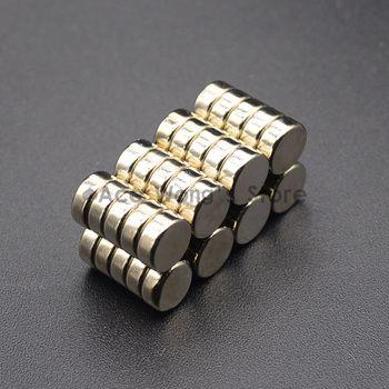 10 PCS 8mm x 3mm N50 Mince Aimants En Néodyme Rare Earth Artisanat Réfrigérateur Renaît NdFeB Magnétique Matériaux