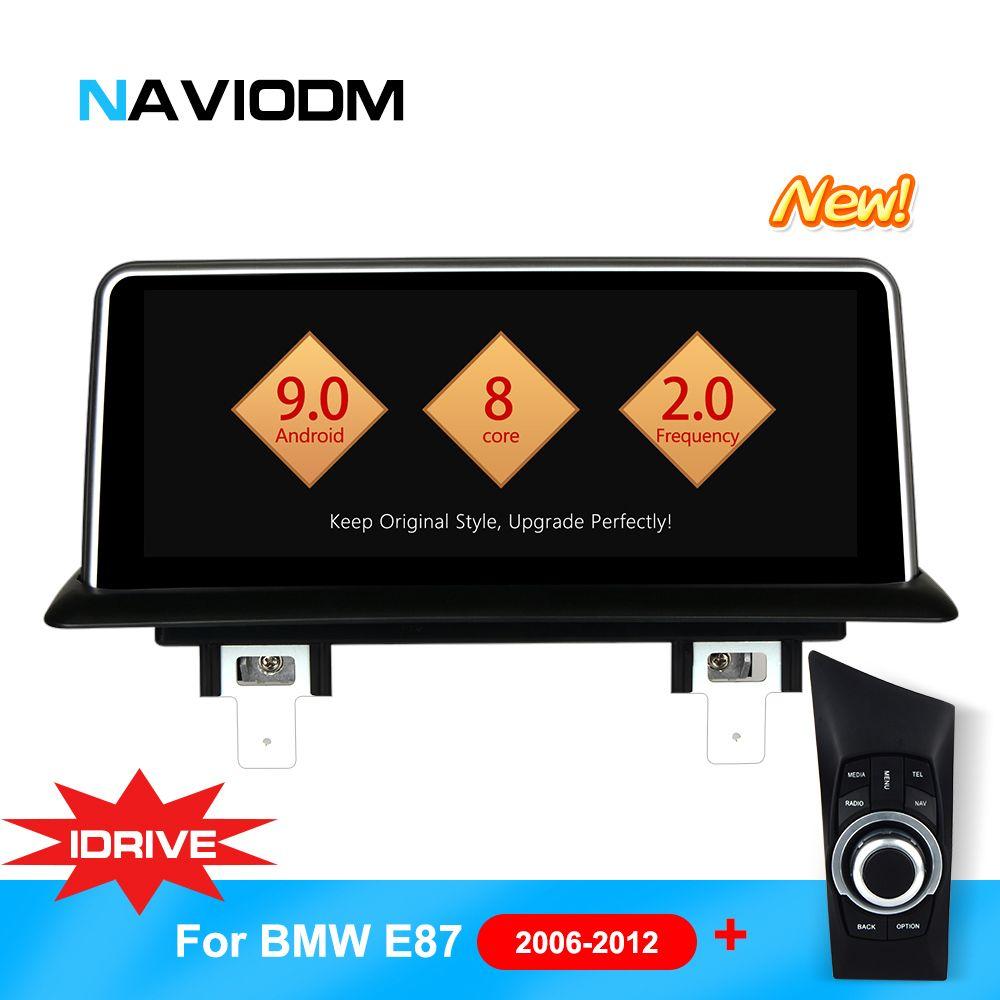 Android 9.0 8 Core Auto Multimedia-Player Auto Auto DVD Navigation Für BMW E87 E82 E81 E88 1 serie mit idrive auto DVD player