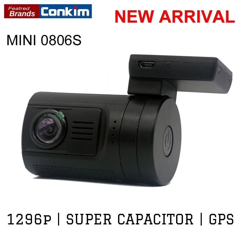 Conkim Ambarella A7 Dash Camera Car DVR With GPS 1296P 1080P Full HD Auto Video Recorder LDWS Mini 0806s Upgrade From Mini 0806