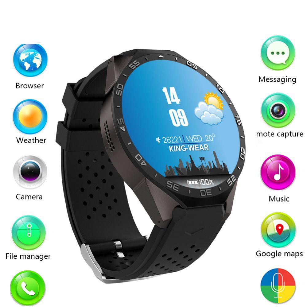 JSBP kingwear Kw88 android 5.1 OS Smart watch 1.39 inch screen mtk6580 SmartWatch phone support bluetooth 3G wifi nano SIM WCDMA
