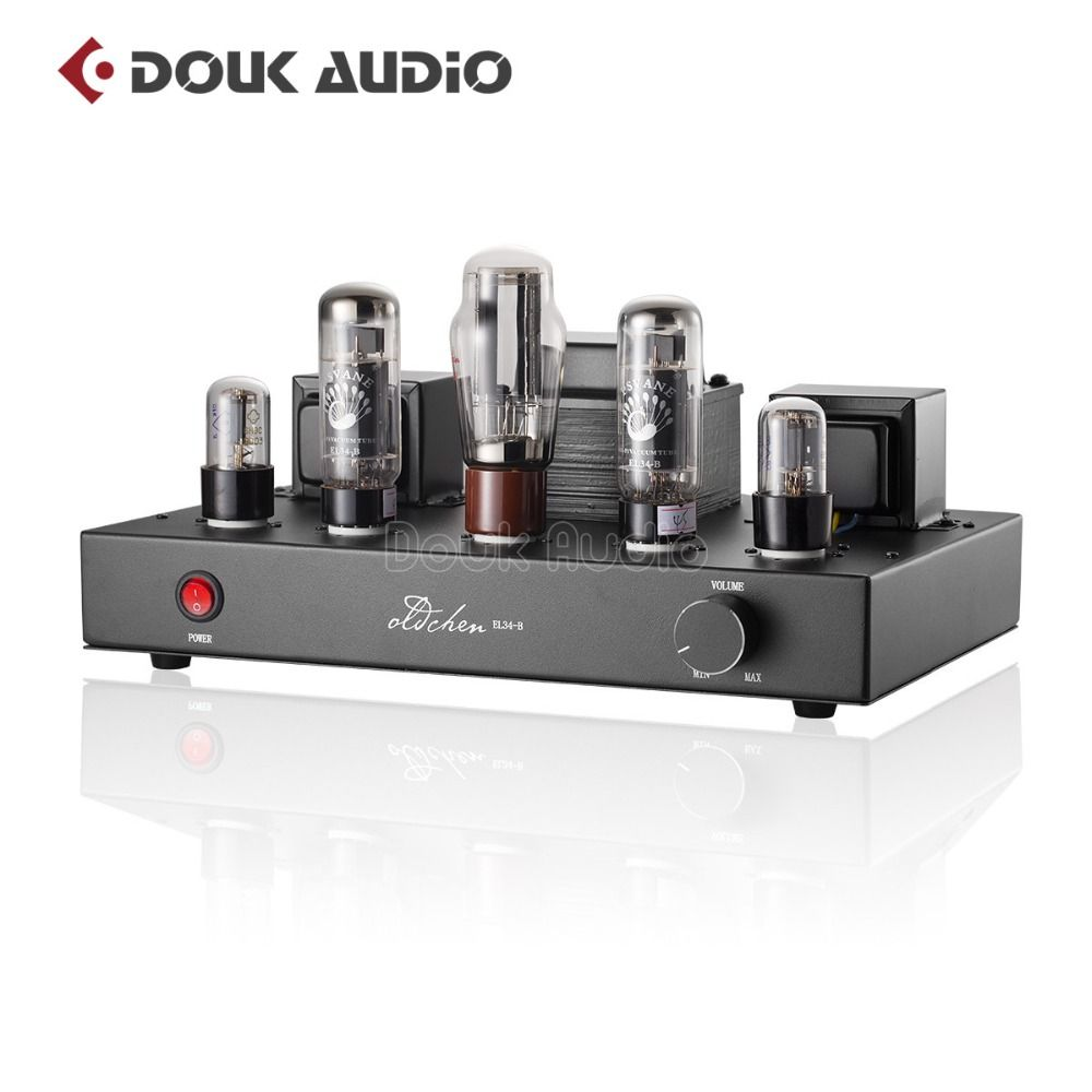 2018 neueste Douk audio Aktualisiert 6N9P Push EL34 Ventil Rohr Verstärker Reine Handgemachte Gerüste Hallo-fi Stereo Klasse A Power AMP