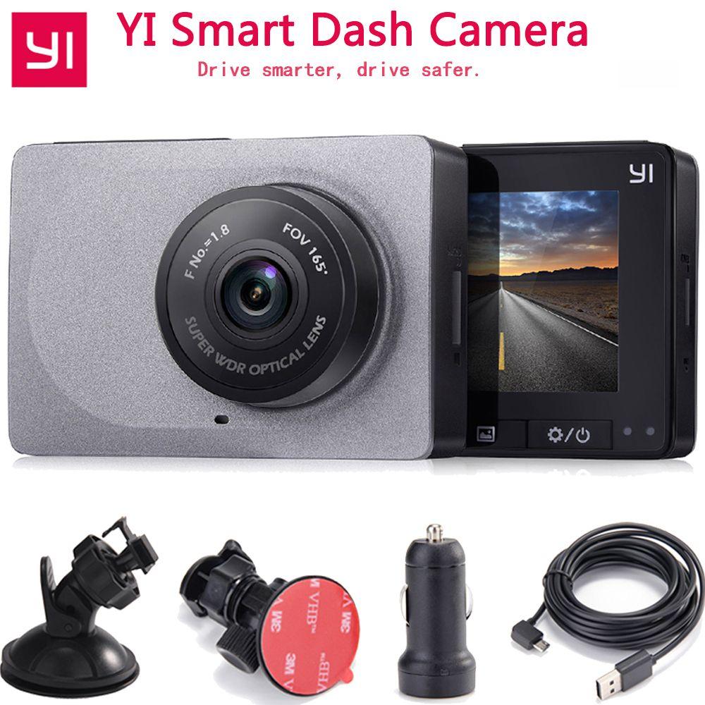 Xiaomi YI voiture intelligente Dvr caméra 1080P 60fps 165 degrés détecteur 2.7 g-sensor Dash caméra ADAS rappel sûr YI voiture DVR