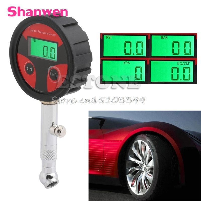 Car Motorcycle Truck Tire LCD Air Pressure Gauge Digital Meter Vehicle Tester G08 Drop ship