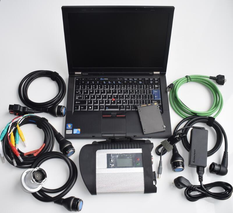 Mb star c4 volle chip diagnose mit laptop t410 i5 4g super ssd mit neueste software 2019,03 beste qualität bereit zu verwenden super