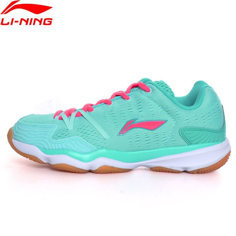 Li-Ning Women Badminton Shoes Textile Upper Breathable Sneakers Hard-Wearing LiNing Sport Shoes AYTM062 XYY052