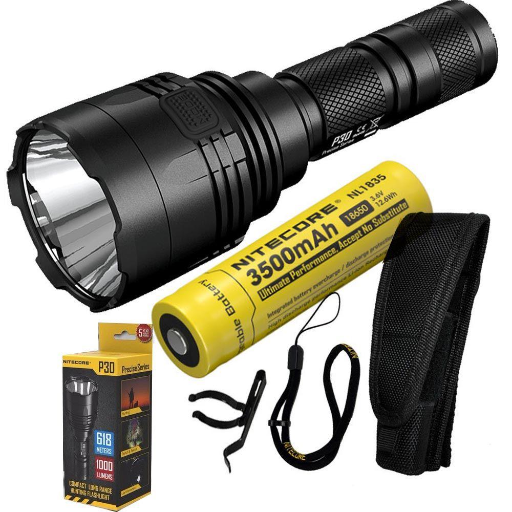 NITECORE P30 1000Lumen Long-range Tactical Flashlight Outdoor Hunting Waterproof Portable Torch with 3500mAh 18650 Battery