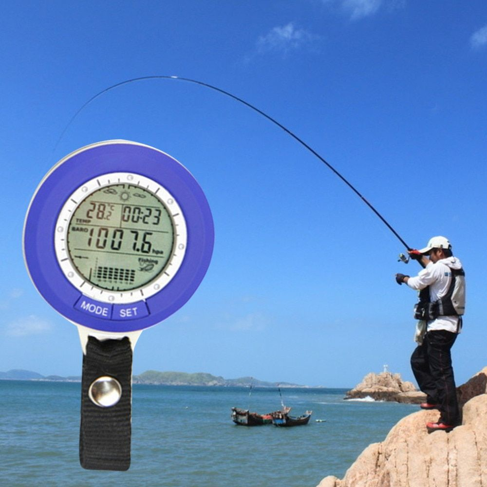 Fishing Barometer Multi-function LCD Digital Outdoor Fishing Barometer Altimeter <font><b>Thermometer</b></font> Hot Sale